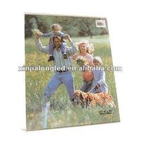 Clear Acrylic Photo and Picture Frame Nicole Acrylic Photo Frames 2 1/2 in. x 3 1/2 in. magnet mount