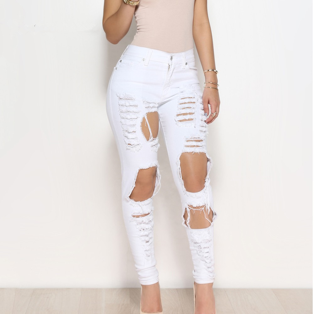 Our ripped jeans are distressed to perfection. Our skinny jeans have just the right amount of stretch and destruction for a classic, lived-in look. Our skinny jeans have just the right amount of stretch and destruction for a classic, lived-in look.