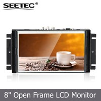 professonal industrial application metal housing 8 Inch TFT open frame module lcd advertising display for POS ATM system
