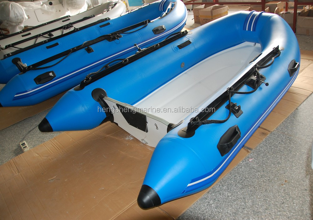 Inflatable Fiberglass Fishing Boat With Outboard Motor