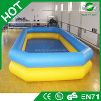 Hot sale CE certificate swimming pool inflatable,inflatable water slide with pool,rubber swimming pool for sale