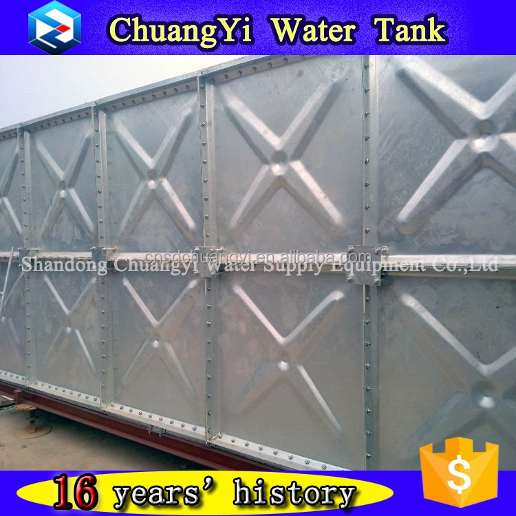 Large Volume Building Fire Fighting Water Storage Tank/ Roof Water Storage Tank/ galvanized rectangular water tank