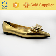 Fashion genius leather point toe rubber sole flat shoes 2016 for women