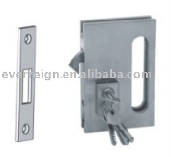 Frameless Sliding Glass Door Lock