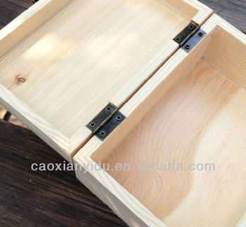 Lightweight Wood Box Wooden Box Chalkboard Storage Box Rectangle Wood Box  Jewel Case