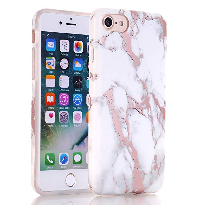 IMD Custom Rose Golden marble phone case for iphone X,marble phone case for iphone