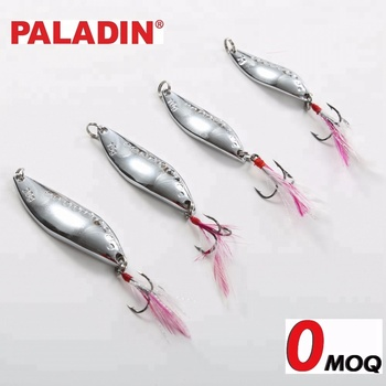 PALADIN 7g 10g 15g 20g Artificial Hard Metal Spoon Casting Fishing Lures / Baits With Sharp Hooks