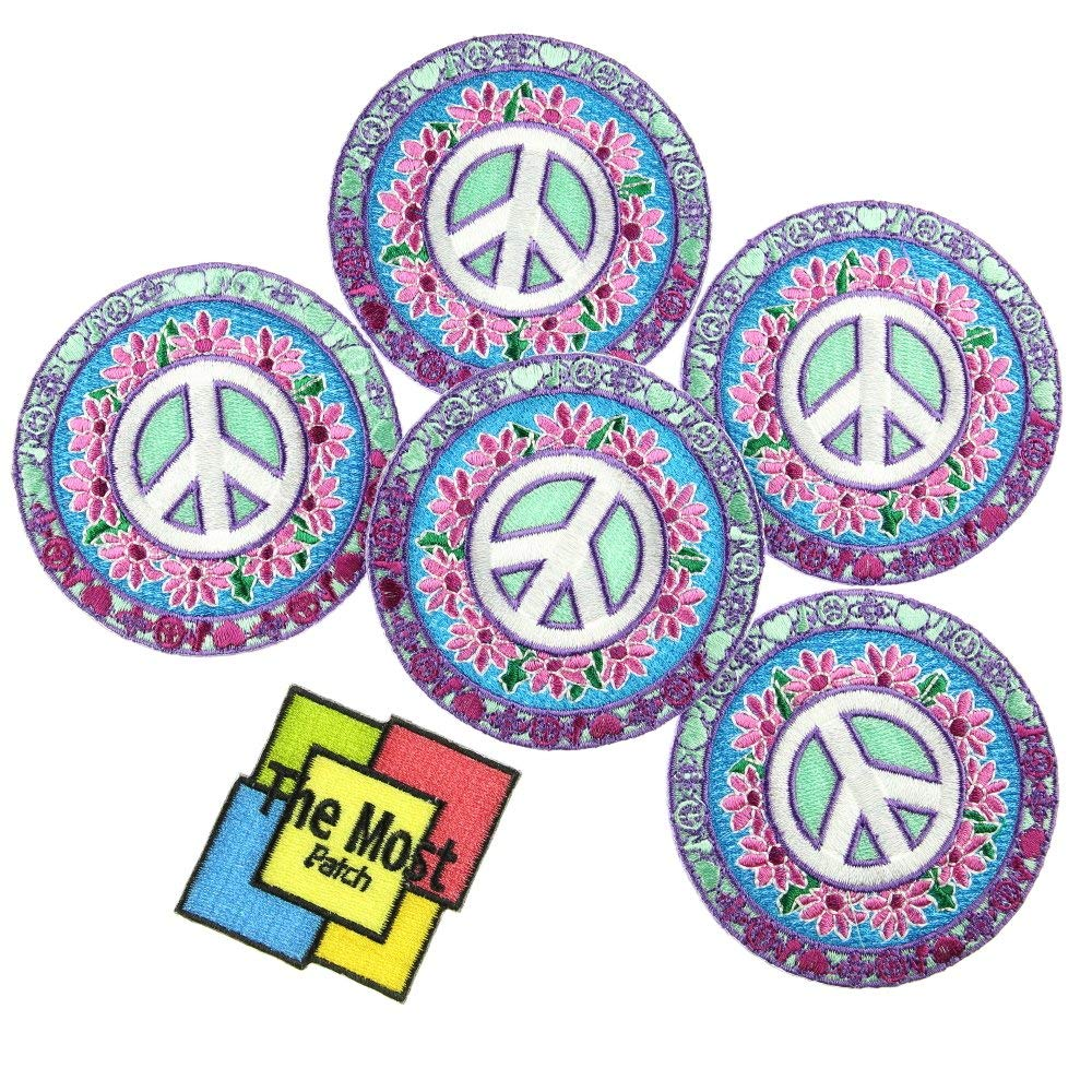 CND Peace Anti War Symbol Logo Iron// Sew-on Embroidered Patch T-Shirt Badge