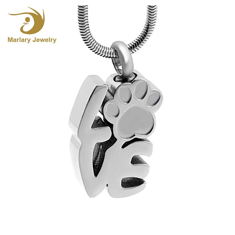 Cremation Jewelry Manufacturer Dog paw prints Love Pendant Urns Keepsake Ashes Pendants