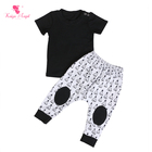 boy black short sleeve top matching pants boutique kids clothing newborn baby clothes