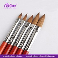 Long Acrylic Handle Brush Tips Replacement Disposable Nail Art Polish Applicator Brush
