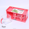 Shantou 3 pcs food safe plastic spice jars wholesale rack set