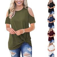 Hot Sale Cold Shoulder Women Tops and Blouses Summer Ladies Blouses and Shirts