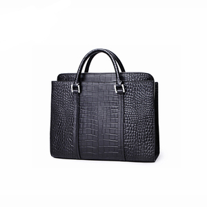 Crocodile Grain Leather Quality Briefcase in Customized Size