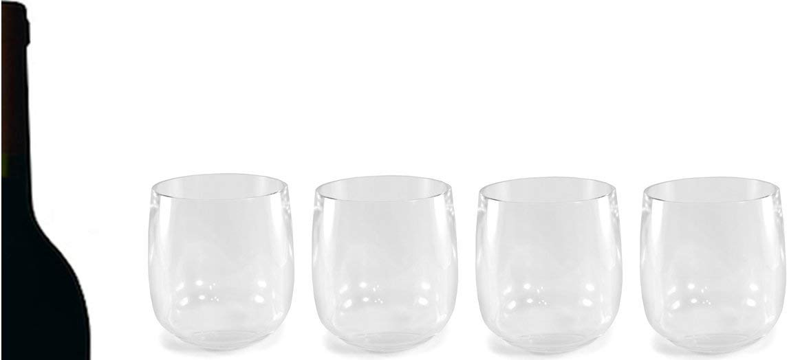 05fbaf33533 Get Quotations · Maison Plus Set of 4 Clear Acrylic Tumblers - Shatter  Resistant Glassware, 10 oz -