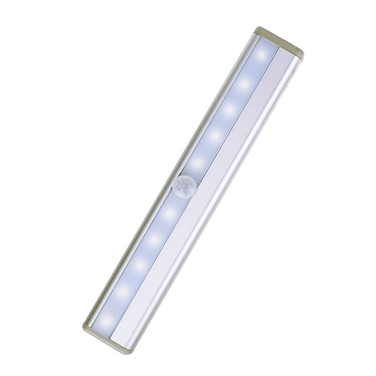 Indoor Light With Motion Sensor LED Night Lighting 10 LEDs Wireless Closet 4* AAA Battery Table Cabinet Bookcase  Lamp