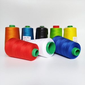 40/3 Tex 40 Plastic Cone Dunhuang Bulk Wholesale 40/2 100% Polyester Sewing Thread Bobbin