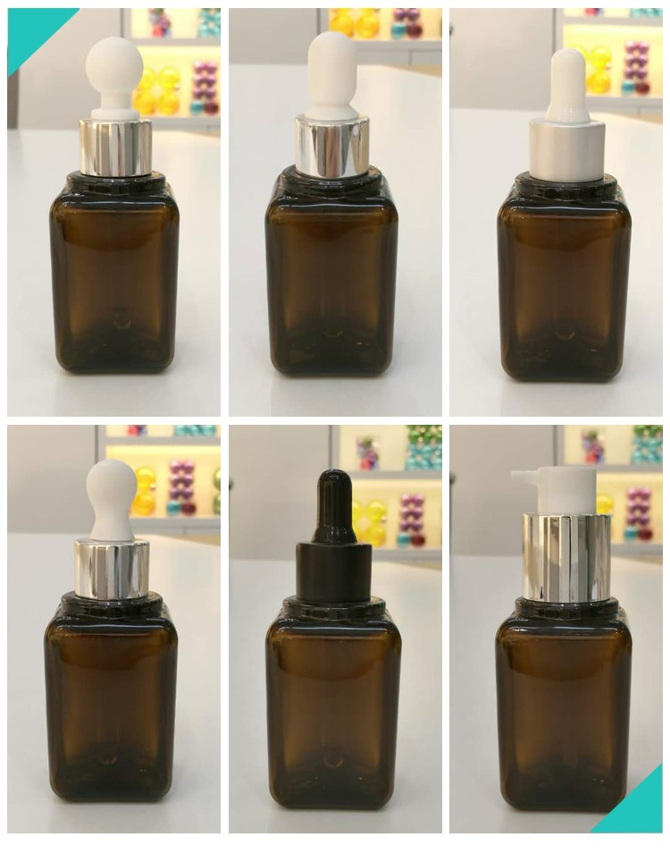 HOT SELLING 30ML BROWN SQUARE ESSENTIAL OIL BOTTLE