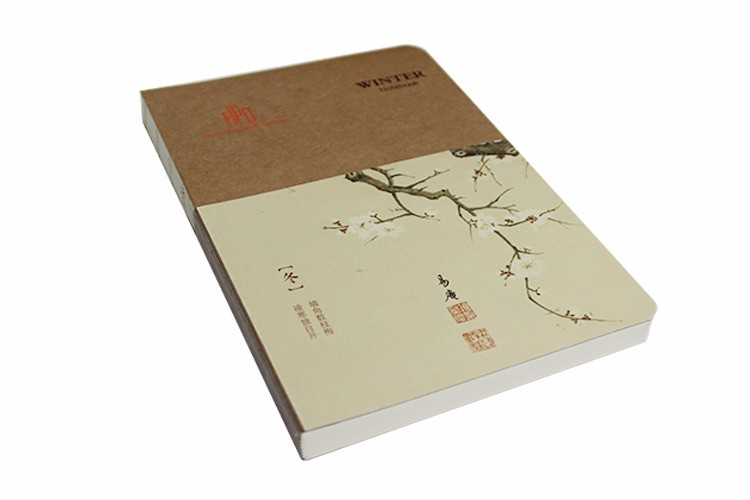 wholesale custom Kraft paper note book plain blank notebook printing service for school