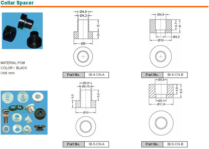 nylon plastic flat washer plastic grommet PBT/Nylon Transistor Insulation Washer plastic sparer part nylon Washer