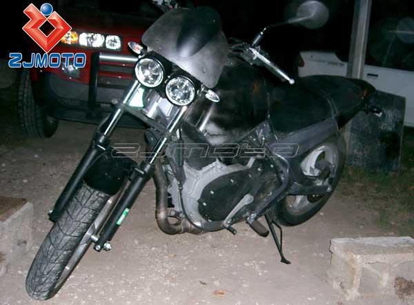 zjmoto motorcycle twin headlight flyrite choppers old school