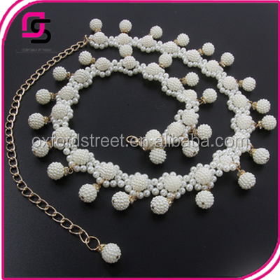Fashionable Ladies Belly dance chain belt with pearl beads