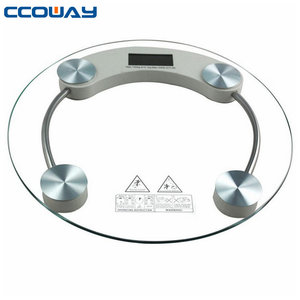 electronic round glass platform digital bathroom Body Weight Scale 180KG