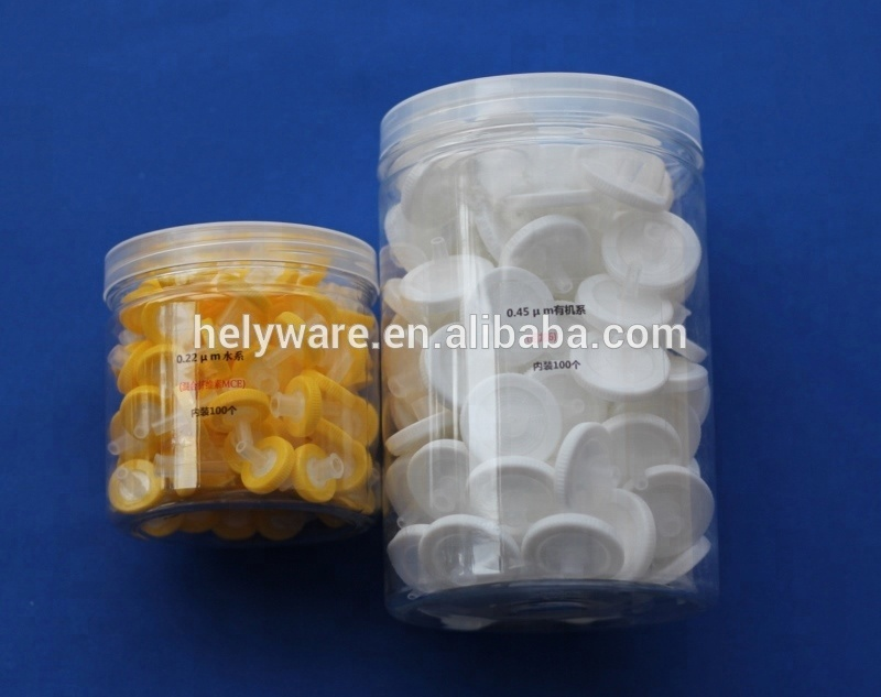 13 25 33mm wheel Syringe Filter with 0 22 0 45 micron MCE CN-CA