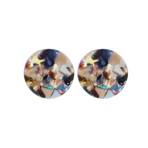 Cheap Price Lady Fashion Jewelry Round Stud Earrings Tortoise Acetate