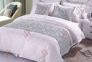 Hot Sale Hotel Bed Linen Bed Runners / Elegant Bed Decorative Bed Scraf /  Various Decorate