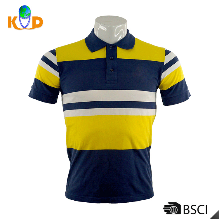 OEM/ODM Wholesale casual style 100% combed cotton stripe pattern sports men polo sports t-shirt