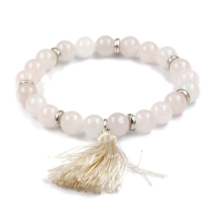 Hot Sales Europe Style Accessories Multicolor Beads Pink Quartz Stone Bracelets For Women Jewelry