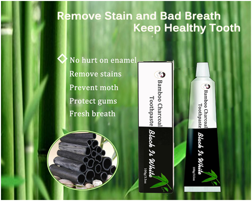 Private Label Natural & Organic Fresh Activated Charcoal Teeth Whitening Toothpaste
