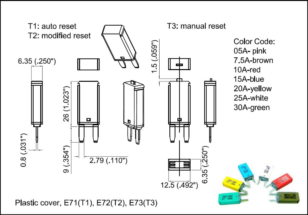 30a 14v automatic fuse dc circuit breaker price list