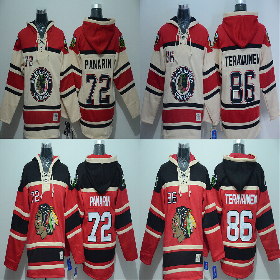 650997c97 ... mens hoodie jersey chicago blackhawks 72 artemi panarin 86 teuvo  teravainen ice hockey