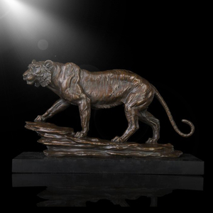 Modern decorations animal tiger bronze statue for table decor