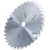 Wet wood cutting saw blade with raker