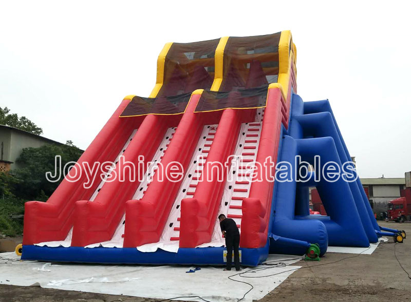 Blow Up Giant 4 Lanes Waterslide With Pool Outdoor Inflatable Long Slip And Slide For Adult Giant