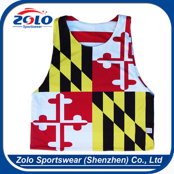 Cheap Customized Sublimation Reversible Mesh Sports Pinnies for men