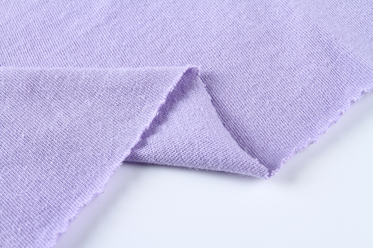 Fast delivery purple custom combed jersey knit wholesale shirt 100 cotton OE fabric