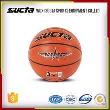 Cheap PU synthetic leather basketball with logo printing ST1105series
