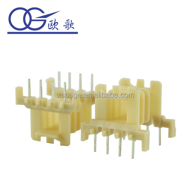china factory horizontal ferrite core transformer plastic bobbin