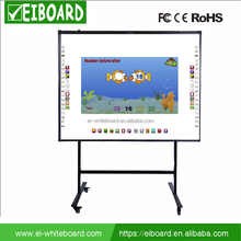 Classroom electronic smart interactive white board with floor stand