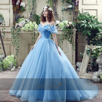 Zh1408g Hot Sale Cinderella Dress Tulle Princess Ball Gown Formal
