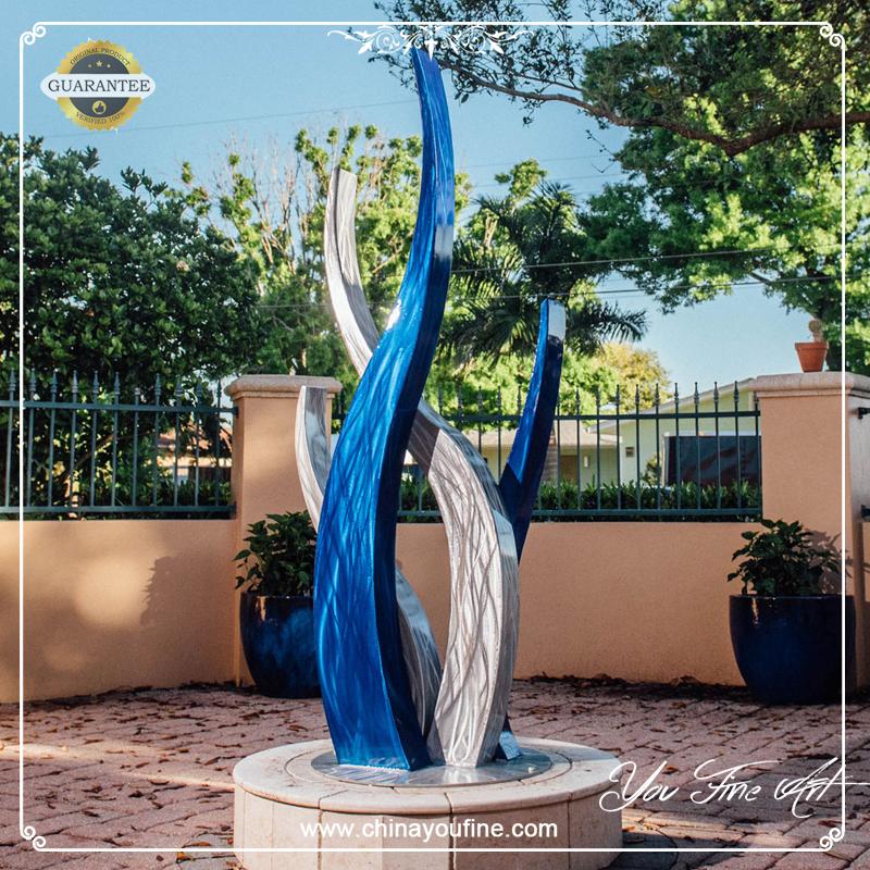 Large Modern Garden Sculptures: Large Stainless Steel Garden Modern Art Metal Outdoor