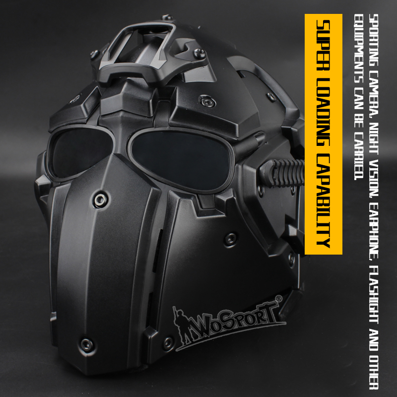 High polymer material unique full face tactical helmet from WoSporT