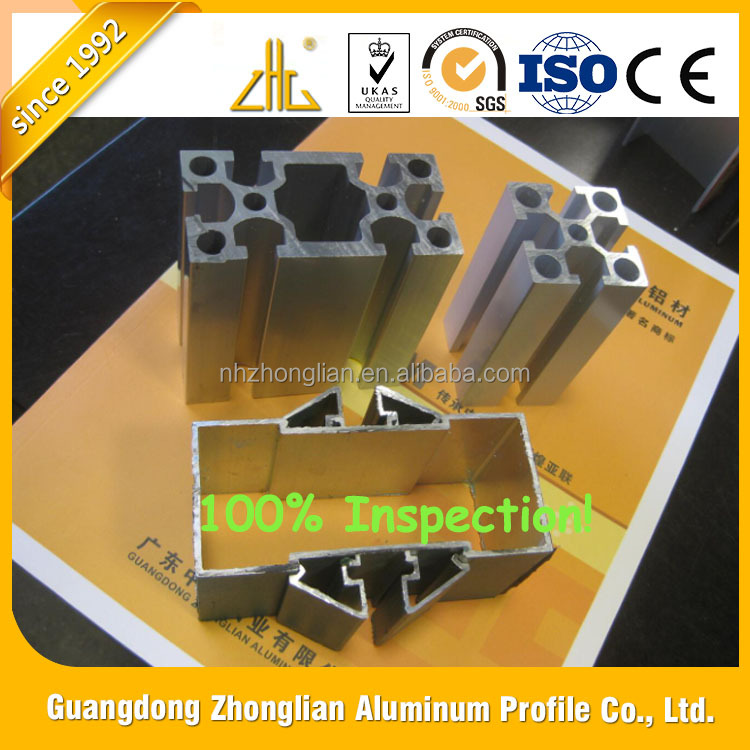 Wow!! Anodized aluminium furniture aluminium extrusion profile for table chair legs, extruded aluminium profile for bed frame