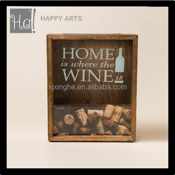 Wine Cork Shadow Box Frames Wholesale - Buy Home Is Where Wine ...