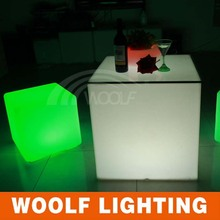 hotel lounge lighted up led modern cube coffee table