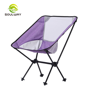 High quality outdoor hiking leisure waterproof relax Aluminium folding camping high chair